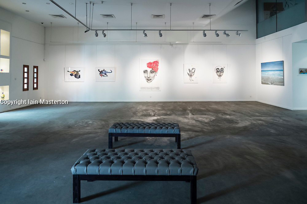 Interior of Courtyard Gallery at   Al Quoz district in Dubai United Arab Emirates