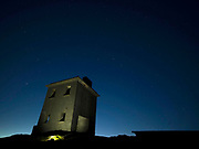 'The Plough', a system of stars pictured on right of building, over Bray Head Watchtower on Valentia Island last night as the now famous Kerry Dark Sky revealed millions of stars on a perfectly dark night with no moon. Stargazers are coming from all over the world to see one of only 3 GOLD TIER Reserves in the world and the only GOLD TIER Reserve in the Northern Hemisphere. The Plough or The Big Dipper in America,  consists of seven bright stars in the constellation Ursa Major and make the shape of a plough or frying pan depending on your observation.<br />Photo: Don MacMonagle -macmonagle.com
