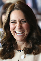 The Duchess of Cambridge during a SportsAid event at the Copper Box in the Olympic Park, London.