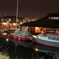 A Winter's night at the Center for Wooden Boats in the SU district of Seattle