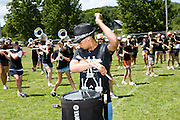 The Oregon Marching Band practice in Suttons Bay, Michigan on July 9, 2009.