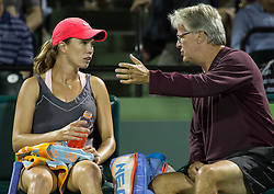 March 28, 2018 - Key Biscayne, Florida, United States - Danielle Collins, from the US, in action against in Venus Williams during her quarter final match at the Miami Open in Key Biscayne. Collins defeated Williams 6-2, 6-3 in Miami, on March 28, 2018. (Credit Image: © Manuel Mazzanti/NurPhoto via ZUMA Press)