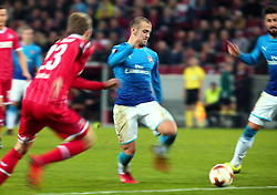 Jack Wilshere of Arsenal runs with the ball - Mandatory by-line: Robbie Stephenson/JMP - 23/11/2017 - FOOTBALL - RheinEnergieSTADION - Cologne,  - Cologne v Arsenal - UEFA Europa League Group H
