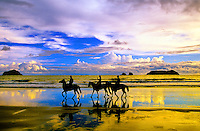 Horseback riding on Playa Espadilla Norte (beach), Manuel Antonio, Costa Rica