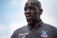 LONDON, ENGLAND - APRIL 14: Mamadou Sakho (12) of Crystal Palace during the Premier League match between Crystal Palace and Brighton and Hove Albion at Selhurst Park on April 14, 2018 in London, England. (Photo by MB Media/Getty Images)