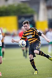 Alloa Athletic's Mark Docherty.<br /> Alloa Athletic 2 v 1 Hibernian, Scottish Championship game played 30/8/2014 at Alloa Athletic's home ground, Recreation Park, Alloa.