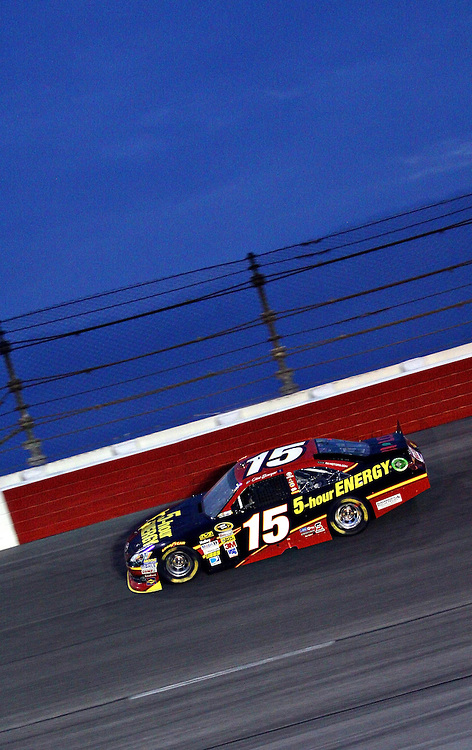 May 12, 2012; Darlington, SC, USA; NASCAR Sprint Cup driver Clint Bowyer (15) during the Southern 500 at Darlington Raceway. Mandatory Credit: Peter Casey-US PRESSWIRE.
