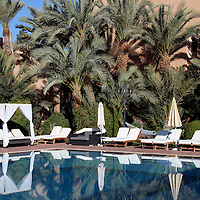 Africa, Morocco, Ouarzazate. Berber Palace Pool.