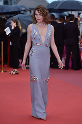 Cannes - Cleavages - Mila Jovovich attending the Burning Premiere held at the Palais des Festivals as part of the 71st annual Cannes Film Festival on May 16, 2018 in Cannes, France. Photo by Aurore Marechal/ABACAPRESS.COM