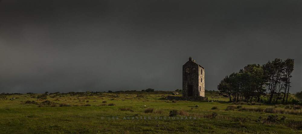 More Cornwall, I love these old Engine houses wihich pepper the landscape there. This is atop Bodmin Moor at Minories.