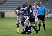 Rugby Union - 2020 / 2021 Gallagher Premiership - Round 13 - Newcastle Falcons vs Bath - Kingston Park<br /> <br /> Zach Mercer of Bath is tackled by Sam Stuart of Newcastle Falcons<br /> <br /> Credit : COLORSPORT/BRUCE WHITE