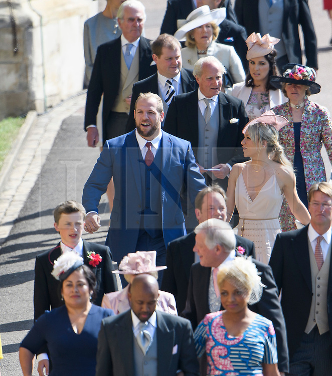 © Licensed to London News Pictures. 19/05/2018. London, UK. Rugby player JAMES HASKELL. Guests arrive at The wedding of Prince Harry, The Duke of Sussex to Meghan Markle, The Duchess of Sussex, at St George's Chapel in Windsor. Photo credit: Ben Cawthra/LNP