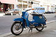 blue old DDR motor scooter Germany Berlin Kreuzberg