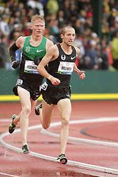 Olympic Trials Eugene 2012: men's 10,000 meter final, Ritzenhein leads Tegankamp, both make Olympic team