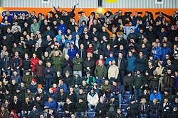 South stand. Falkirk 1 v 1 Rangers, Scottish Championship game played 27/2/2014 at The Falkirk Stadium .