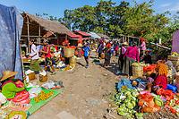 INLE LAKE, MYANMAR - DECEMBER 09, 2016 : people tribe working at the five days market at the Inle Lake Shan state in Myanmar (Burma)