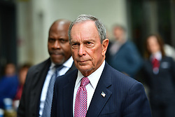 © Licensed to London News Pictures. 19/05/2016. London, UK. Former mayor of New York, Micheal Bloomberg leaves BBC Broadcasting House in London, after commenting on the UK referendum on EU membership, during a Radio 4 interview. Photo credit: Ben Cawthra/LNP