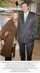 MR & MRS BERTIE WAY his is a former close friend of Koo Stark, at a party in London on 20th May 2003.PJT 3
