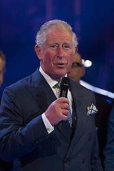The Prince of Wales on stage at the Royal Albert Hall in London during a star-studded concert to celebrate the Queen's 92nd birthday.