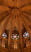 Barcelona, Spain, Cathedral of Barcelona, Nave, Gothic Architecture