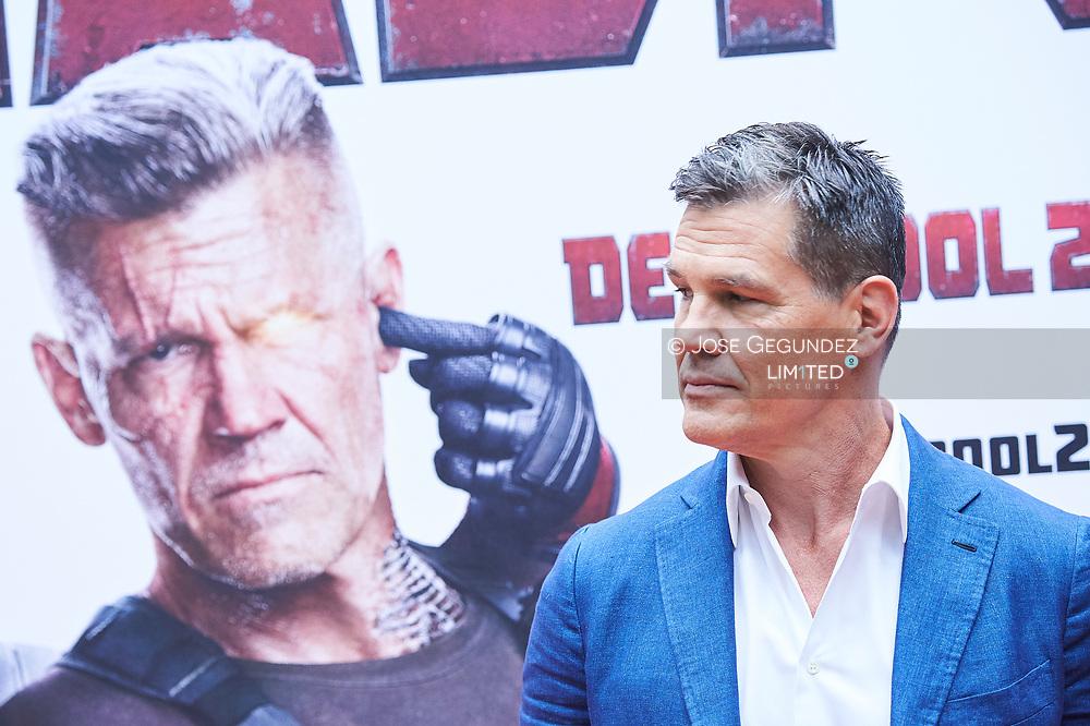 Josh Brolin attends 'Deadpool 2' `photocall at Villamagna Hotel on May 7, 2018 in Madrid, Spain