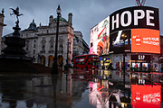 Mcc0098328. Daily Telegraph<br /> <br /> DT News<br /> <br /> London's Piccadilly Circus on the first day of England's third lockdown since the Covid pandemic began in early 2020 .<br /> <br /> London 5 January 2021