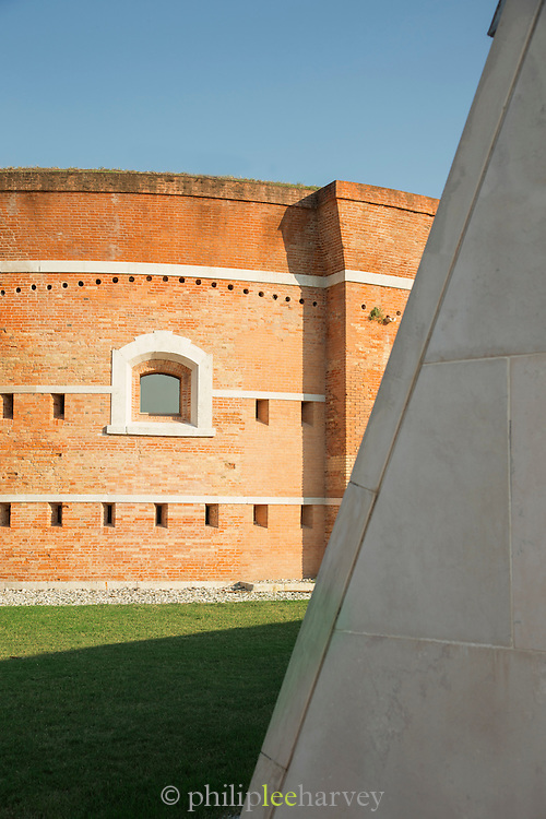 Torre Massimiliana: Once a defence tower. Nowadays, it serves as a museum about local military buildings. Island of Sant'Erasmo, Venice, Italy, Europe