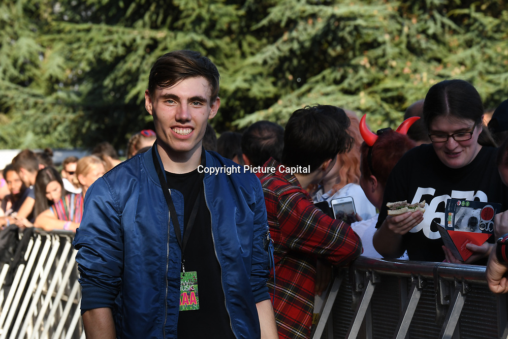 Asher Knight of Power of Muzik perform live at Kew The Music Festival 2018 on 10th July 2018.