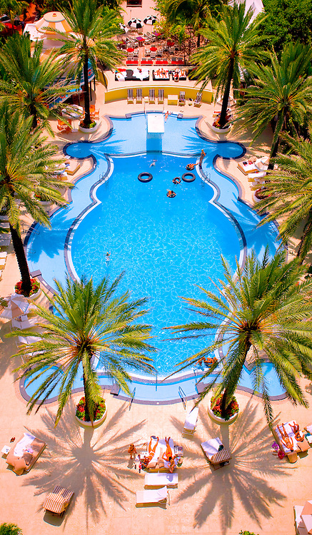 Miami Beach's Tropical Deco-style Raleigh Hotel pool -- designed by architect L. Murray Dixon in 1940 -- was hailed by Life magazine as the most beautiful pool in Florida. Some say it still is.