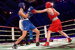 17-11-2019 NED: World Port Boxing Netherlands - Kazakhstan, Rotterdam<br /> 3rd World Port Boxing in Excelsior Stadion Rotterdam / Mira Massing (NED) 57 kg klasse in action against Aida Abikeyeva (KAZ)