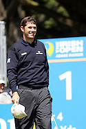 Padraig Harrington on the first tee in the third round of the Irish Open on 19th of May 2007 at the Adare Manor Hotel & Golf Resort, Co. Limerick, Ireland. (Photo by Manus O'Reilly/NEWSFILE)