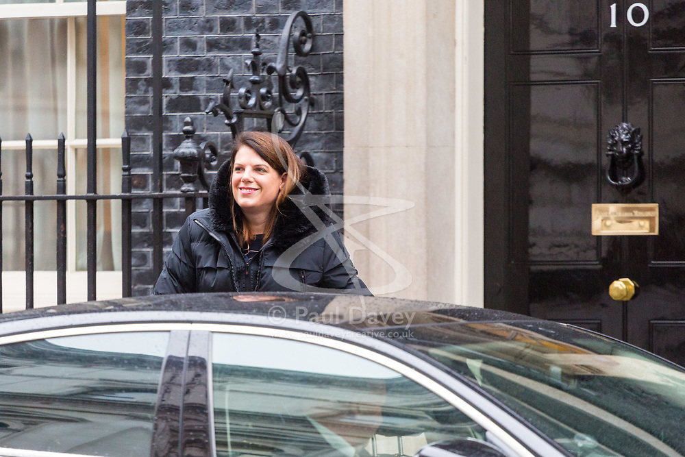 London - Caroline Nokes MP, Minister of State for Immigration attends the weekly meting of the UK cabinet at Downing Street. January 23 2018.