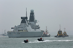 © under license to London News Pictures.  22/03/2013 HMS DUNCAN ENTERS PORTSMOUTH HARBOUR FOR THE FIRST TIME. Picture credit should read: Bryan Moffat/London News Pictures