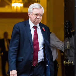 London, November 01 2017. Secretary of State for Exiting the European Union David Davis is seen in Downing street.. © Paul Davey