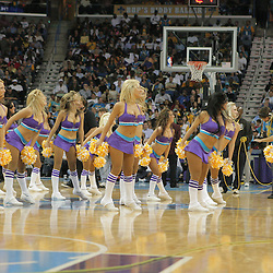 29 March 2009: New Orleans Hornets Honeybees dance team performs during a 90-86 victory by the New Orleans Hornets over Southwestern Division rivals the San Antonio Spurs at the New Orleans Arena in New Orleans, Louisiana.