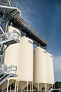 The Puris pea protein processing facility in Dawson, Minnesota features eight hopper bins for initial storage of cleaned peas as they arrive on Tuesday, June 8, 2021.