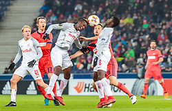 22.02.2018, Red Bull Arena, Salzburg, AUT, UEFA EL, FC Salzburg vs Real Sociedad, Sechzehntelfinale, Rueckspiel, im Bild Amadou Haidara (FC Salzburg), Sergio Canales (Real Sociedad), Diadie Samassekou (FC Salzburg) // during the UEFA Europa League Round of 32, 2nd Leg Match between FC Salzburg and Real Sociedad at the Red Bull Arena in Salzburg, Austria on 2018/02/22. EXPA Pictures © 2018, PhotoCredit: EXPA/ JFK