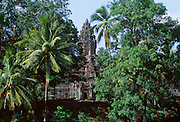 The temple of Bakong outside Siem Reap, Cambodia built by King Indravarman in 881AD.  It still serves as a working monastery.