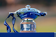 The Aberdeen Standard Investments Scottish Open trophy at The Renaissance Club, North Berwick, Scotland on 14 July 2019.