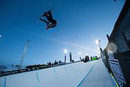 Torin Yater Wallace Ski Superpipe Practice during 2015 X Games Aspen at Buttermilk Mountain in Aspen, CO. ©Brett Wilhelm/ESPN