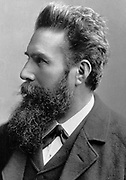 Wilhelm Konrad von Roentgen (1845-1923) German physicist:  X-rays. Nobel prize for Physics 1901.