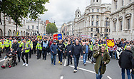 FLA supporters during the Football Lads Alliance march between Park Lane and Westminster Bridge, London on 7 October 2017. Photo by Phil Duncan.