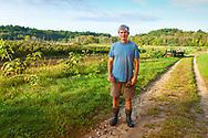 Ari Kurtz, Farmer on his organic farm, Lincoln, MA