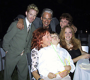 """Seth Green, Mindy Sterling with son Max, sister Amy and Father & Mother.EXCLUSIVE.""""Austin Powers"""" Post Premiere Party.Universal Studios.Hollywood, CA.July 22, 2002.Photo By Celebrityvibe.com.."""