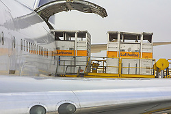 Departure of the Horses from<br /> airport Frankfurt to Calgary <br /> Spruce Meadows - Calgary 2001<br /> © Dirk Caremans