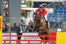 Duguet Romain, (FRA), Quorida de Treho<br /> Teamadn 1th individual qualifier <br /> FEI European Championships - Aachen 2015<br /> © Hippo Foto - Dirk Caremans<br /> 19/08/15