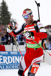 11.12.2011, Biathlonzentrum, Hochfilzen, AUT, E.ON IBU Weltcup, 2. Biathlon, Hochfilzen, Staffel Herren, im Bild Mesotitsch Daniel (Team Austria) // during Team Relay E.ON IBU World Cup 2th Biathlon, Hochfilzen, Austria on 2011/12/11. EXPA Pictures © 2011. EXPA Pictures © 2011, PhotoCredit: EXPA/ nph/ Straubmeier..***** ATTENTION - OUT OF GER, CRO *****