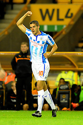 Huddersfield Town's Conor Coady celebrates his goal. - Photo mandatory by-line: Dougie Allward/JMP - Mobile: 07966 386802 - 01/10/2014 - SPORT - Football - Wolverhampton - Molineux Stadium - Wolverhampton Wonderers v Huddersfield Town - Sky Bet Championship
