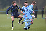 Leeds United forward Niklas Haughland battles for possession during the U18 Professional Development League match between Coventry City and Leeds United at Alan Higgins Centre, Coventry, United Kingdom on 13 April 2019.