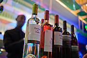 Bottles of Chilean wines line the bar.